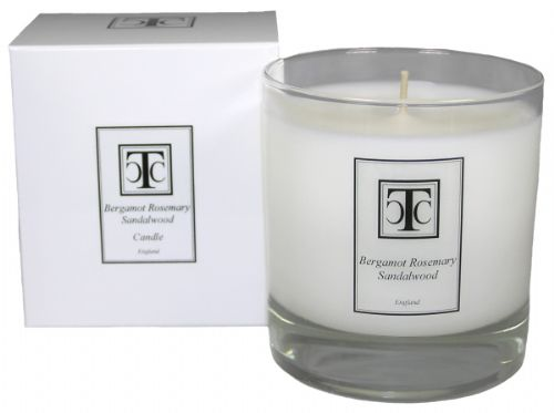 Bergamot Rosemary Sandalwood Scented Candle 60 hour